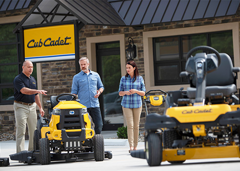 riding mowers at a Cub Cadet dealer