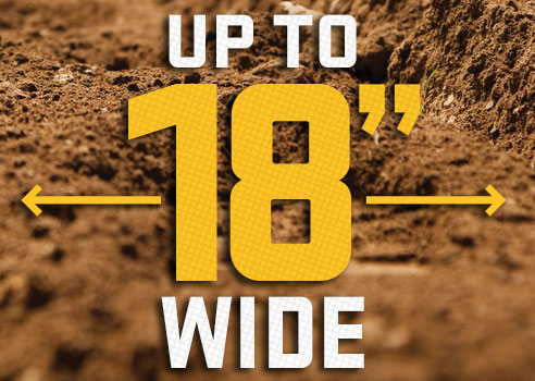 """Up to 18"""" wide graphic on dirt background"""