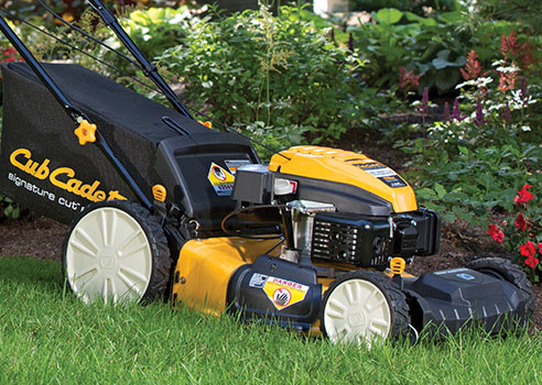 Cub Cadet Mower on lawn