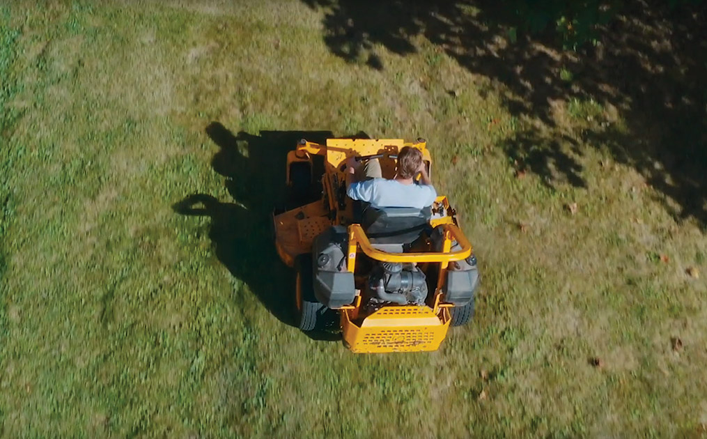 aerial view of Cub Cadet Pro Z Mower