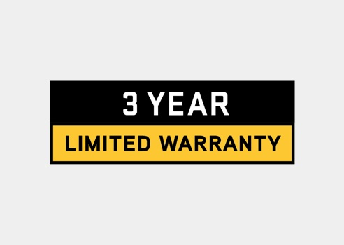 graphic of 3 year warranty on lawn tractors